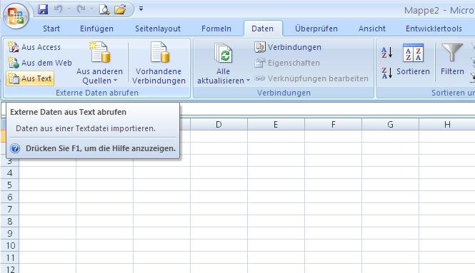 CSV in Excel 2007 öffnen | CammaBlog